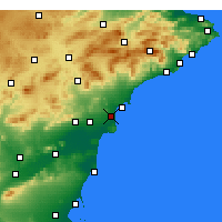 Nearby Forecast Locations - El Alted - Carte