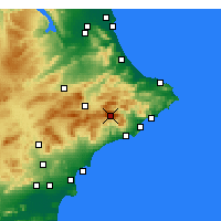 Nearby Forecast Locations - Aitana - Carte
