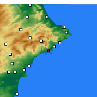 Nearby Forecast Locations - Benidorm - Carte