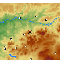Nearby Forecast Locations - Jaén - Carte
