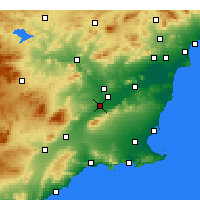 Nearby Forecast Locations - Alcantarilla - Carte
