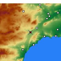 Nearby Forecast Locations - Águilas - Carte