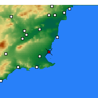 Nearby Forecast Locations - San Javier - Carte