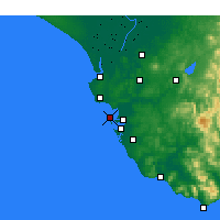 Nearby Forecast Locations - Cadix - Carte
