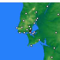 Nearby Forecast Locations - Lisbonne/Geof - Carte