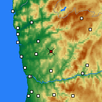 Nearby Forecast Locations - Guimarães - Carte