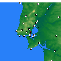 Nearby Forecast Locations - Lisbonne - Carte