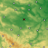 Nearby Forecast Locations - Sömmerda - Carte