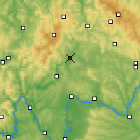 Nearby Forecast Locations - Bad Neustadt - Carte