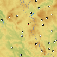 Nearby Forecast Locations - Tirschenreuth - Carte