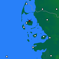 Nearby Forecast Locations - Îles frisonnes septentrionales - Carte