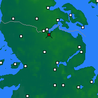 Nearby Forecast Locations - Flensbourg - Carte