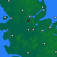 Nearby Forecast Locations - Jagel - Carte