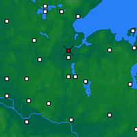 Nearby Forecast Locations - Lübeck - Carte