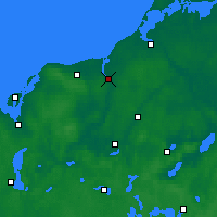 Nearby Forecast Locations - Rostock - Carte