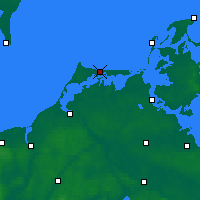 Nearby Forecast Locations - Fischland-Darss-Zingst - Carte