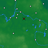 Nearby Forecast Locations - Schönefeld - Carte