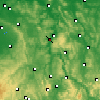 Nearby Forecast Locations - Höxter - Carte