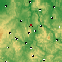 Nearby Forecast Locations - Calden - Carte