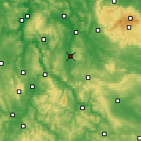 Nearby Forecast Locations - Göttingen - Carte
