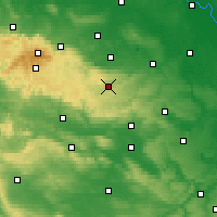 Nearby Forecast Locations - Harzgerode - Carte