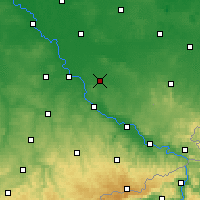 Nearby Forecast Locations - Großenhain - Carte