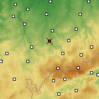 Nearby Forecast Locations - Zwickau - Carte