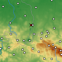 Nearby Forecast Locations - Görlitz - Carte