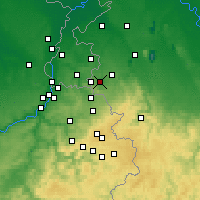 Nearby Forecast Locations - Aix-la-Chapelle - Carte