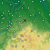 Nearby Forecast Locations - Würselen - Carte