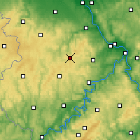 Nearby Forecast Locations - Nürburg - Carte
