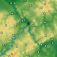 Nearby Forecast Locations - Coblence - Carte