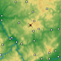 Nearby Forecast Locations - Westerwald - Carte