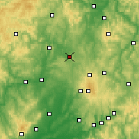Nearby Forecast Locations - Homberg (Ohm) - Carte