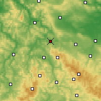Nearby Forecast Locations - Eisenach - Carte