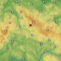 Nearby Forecast Locations - Suhl - Carte