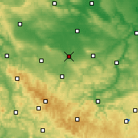 Nearby Forecast Locations - Erfurt - Carte