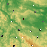 Nearby Forecast Locations - Mühlhausen - Carte