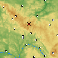 Nearby Forecast Locations - Forêt de Thuringe - Carte