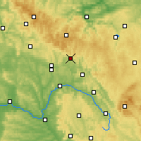 Nearby Forecast Locations - Sonneberg - Carte