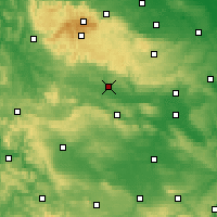 Nearby Forecast Locations - Nordhausen - Carte