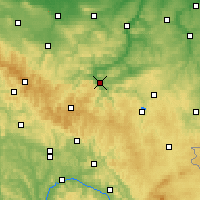 Nearby Forecast Locations - Saalfeld - Carte