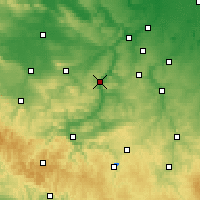 Nearby Forecast Locations - Iéna - Carte