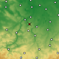 Nearby Forecast Locations - Osterfeld - Carte