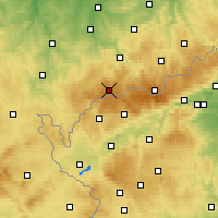 Nearby Forecast Locations - Erzgebirge/W - Carte