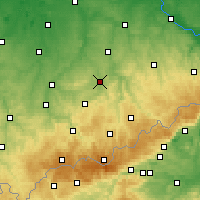 Nearby Forecast Locations - Chemnitz - Carte