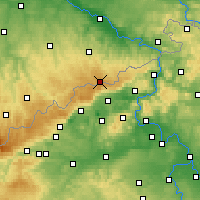 Nearby Forecast Locations - Altenberg - Carte