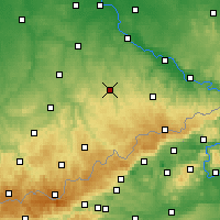 Nearby Forecast Locations - Freiberg - Carte