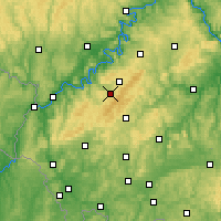 Nearby Forecast Locations - Hunsrück - Carte