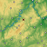 Nearby Forecast Locations - Hahn - Carte
